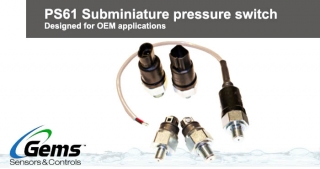 PS61 Subminiature pressure switch, Gems