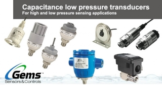 Capacitance low pressure transducers, Gems