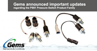 PS61 Subminiature pressure switch, Gems updates