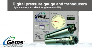 Digital pressure gauge, transducers, Gems